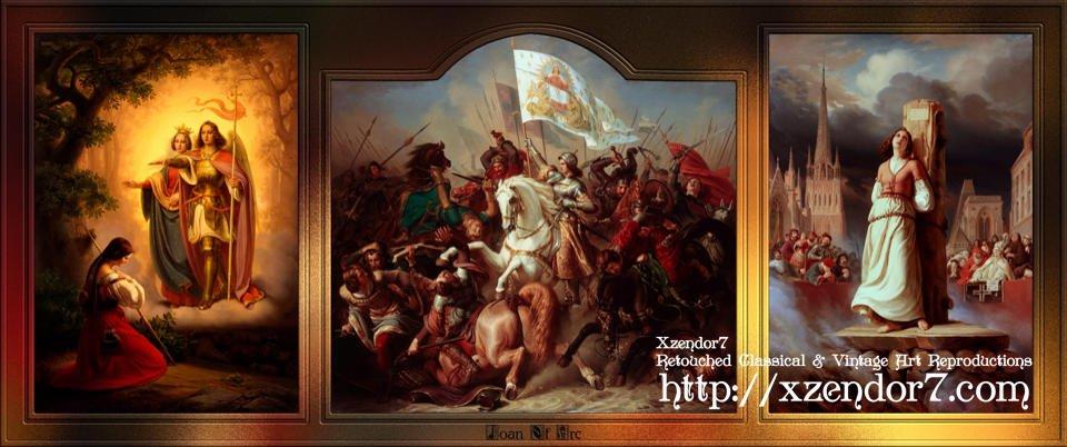 Joan of Arc Triptych by Hermann Stilke