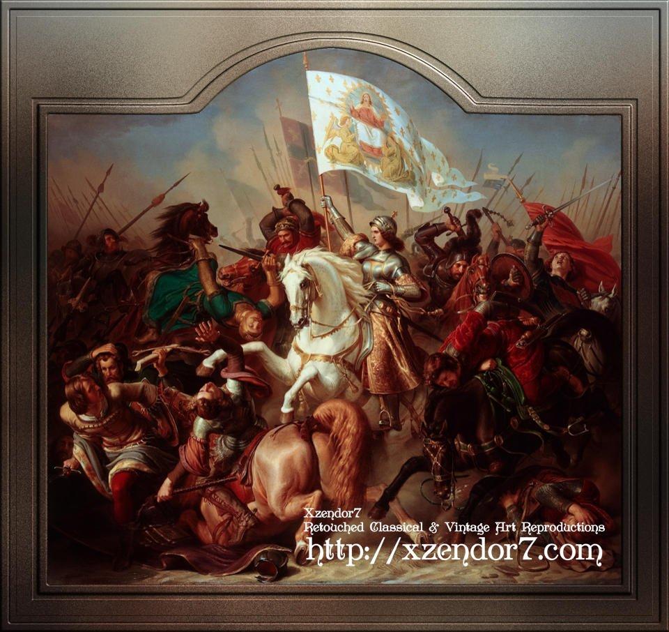 Joan of Arc in Battle by Hermann Stilke