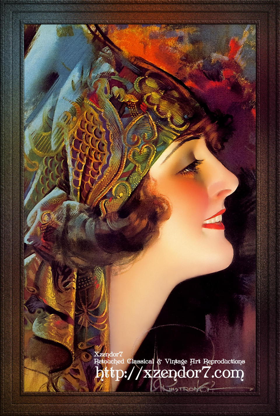 Portrait Of Martha Mansfield by Rolf Armstrong