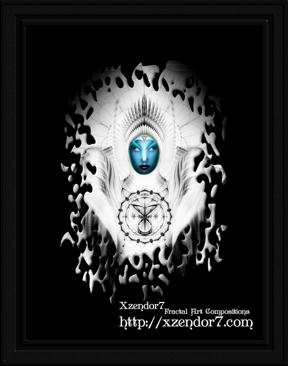 Riddian Queen Angel White GSplatter On Black
