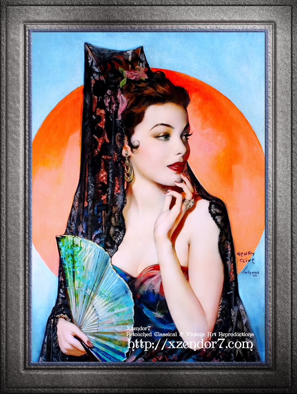 Gene Tierney as Lola Montez by Henry Clive