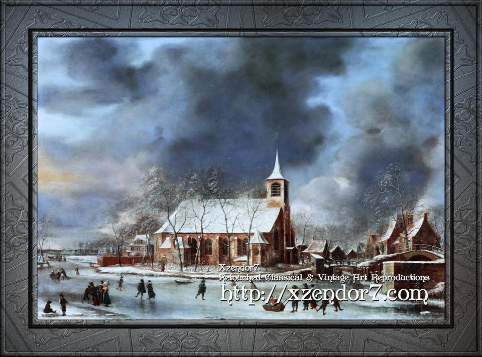 Gezicht op de Kerk te Sloten in de Winter by Jan Abrahamsz Beerstraaten