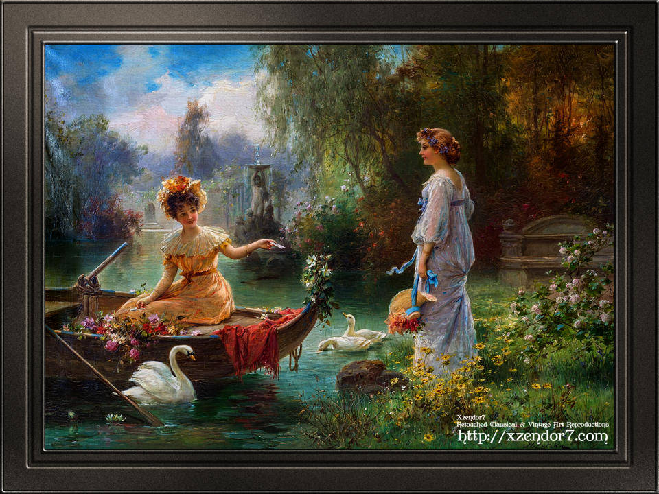 Mail from Across the Pond by Hans Zatzka
