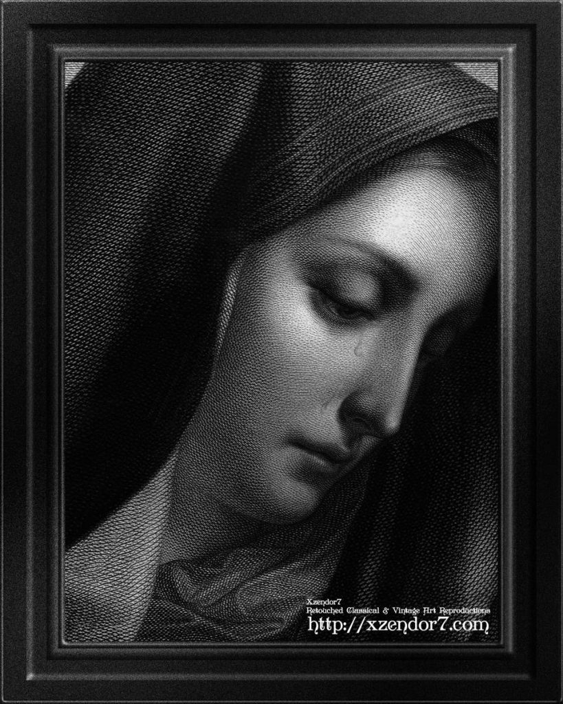 Mater Dolorosa Engraving After A Painting by Carlo Dolci