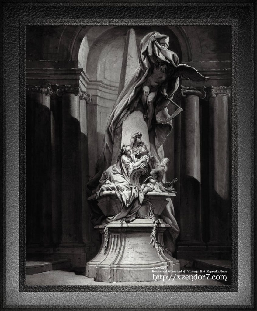 Monument to Mignard by François Boucher