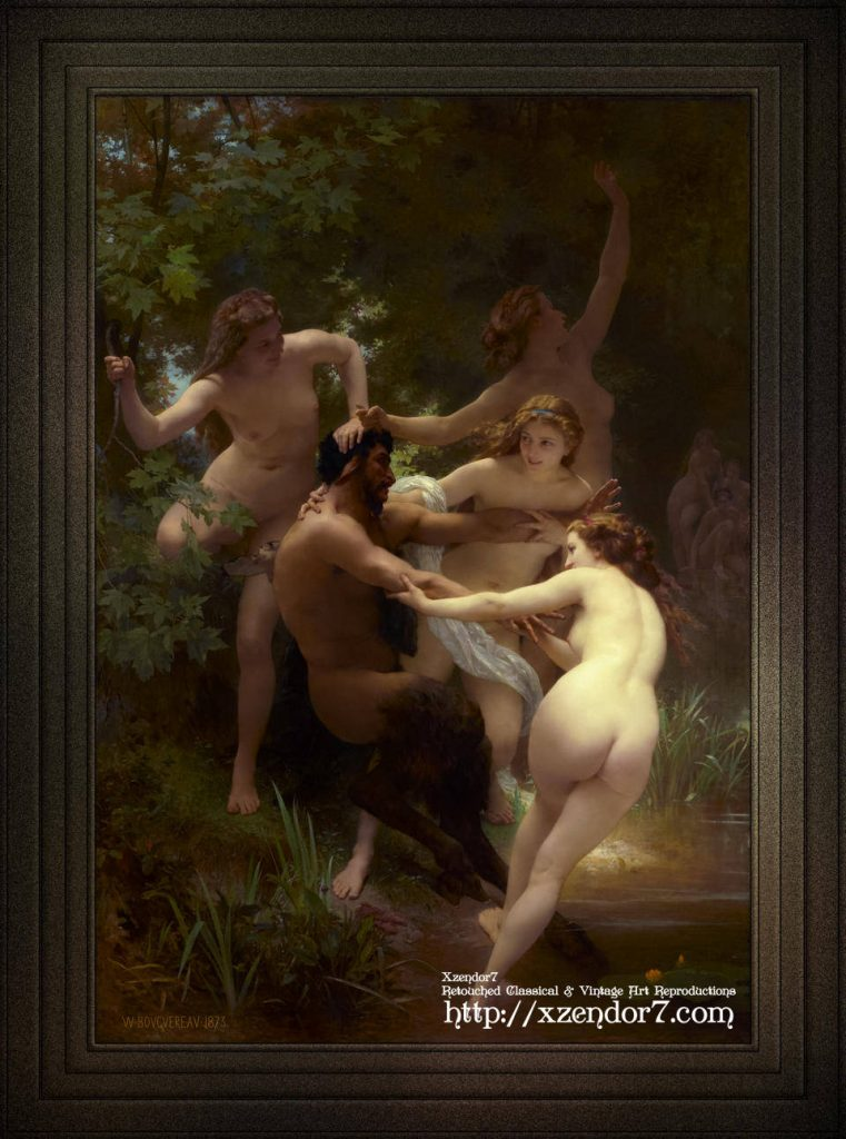 Nymphs and Satyr by William-Adolphe Bouguereau