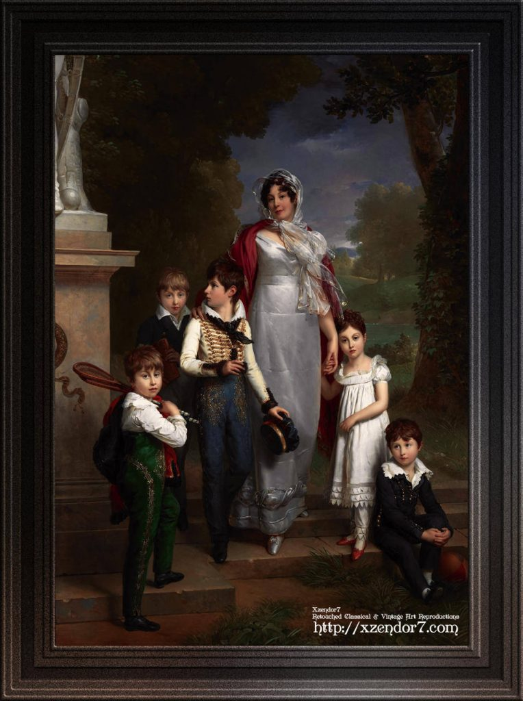 Portrait of Louise-Antoinette-Scholastique Guéhéneuc with her Children by Francois Pascal Simon Gérard