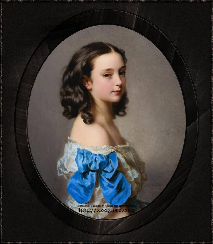 Portrait of a Young Girl Thought To Be Princess Essling by Hermann Winterhalter