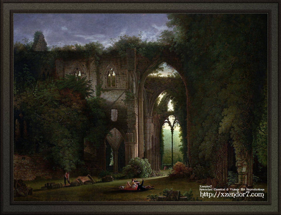 Sketching the Ruins of Tintern Abbey by Samuel Colman