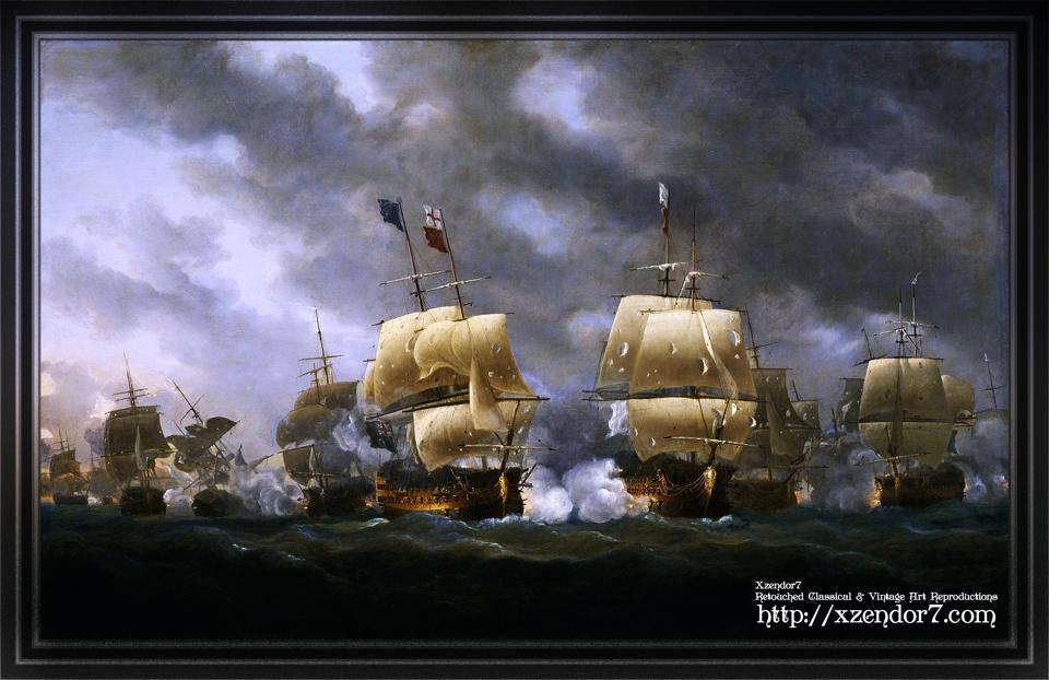 The Battle of Quiberon Bay by Nicholas Pocock
