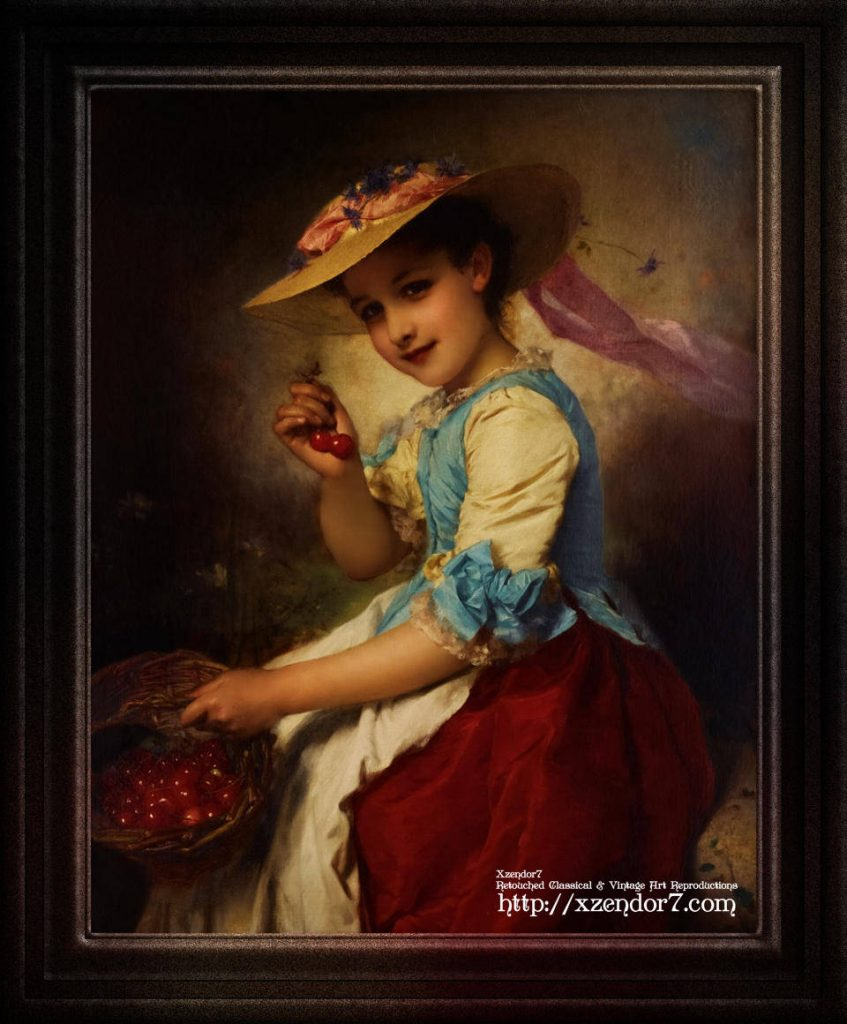 The Cherry Girl by Adolphe Piot