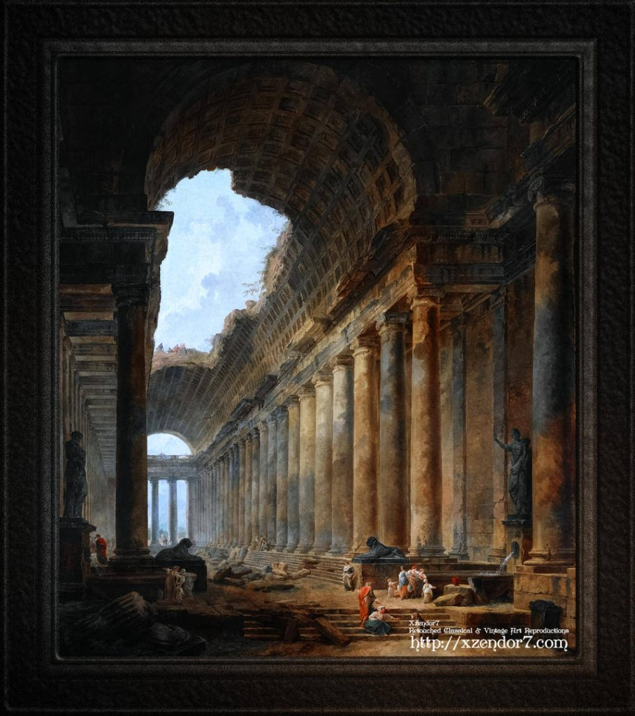 The Old Temple by Hubert Robert