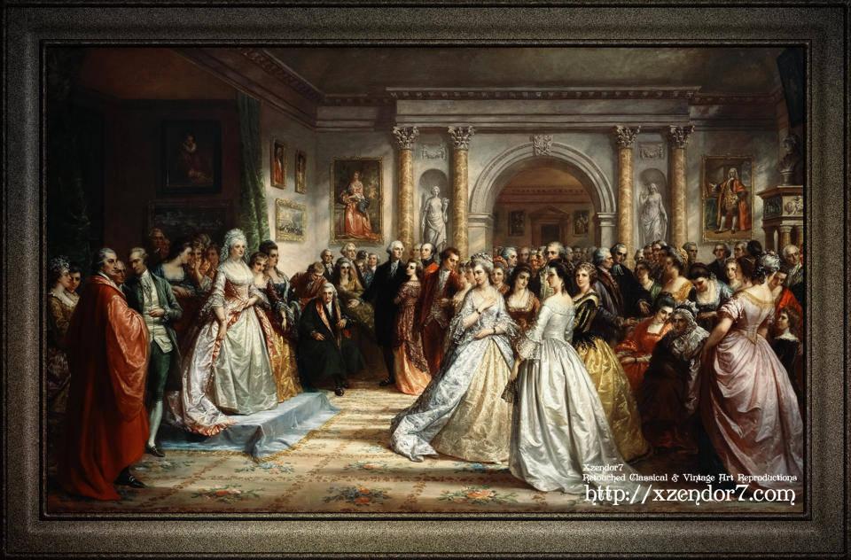 Lady Washington's Reception Day by Daniel Huntington