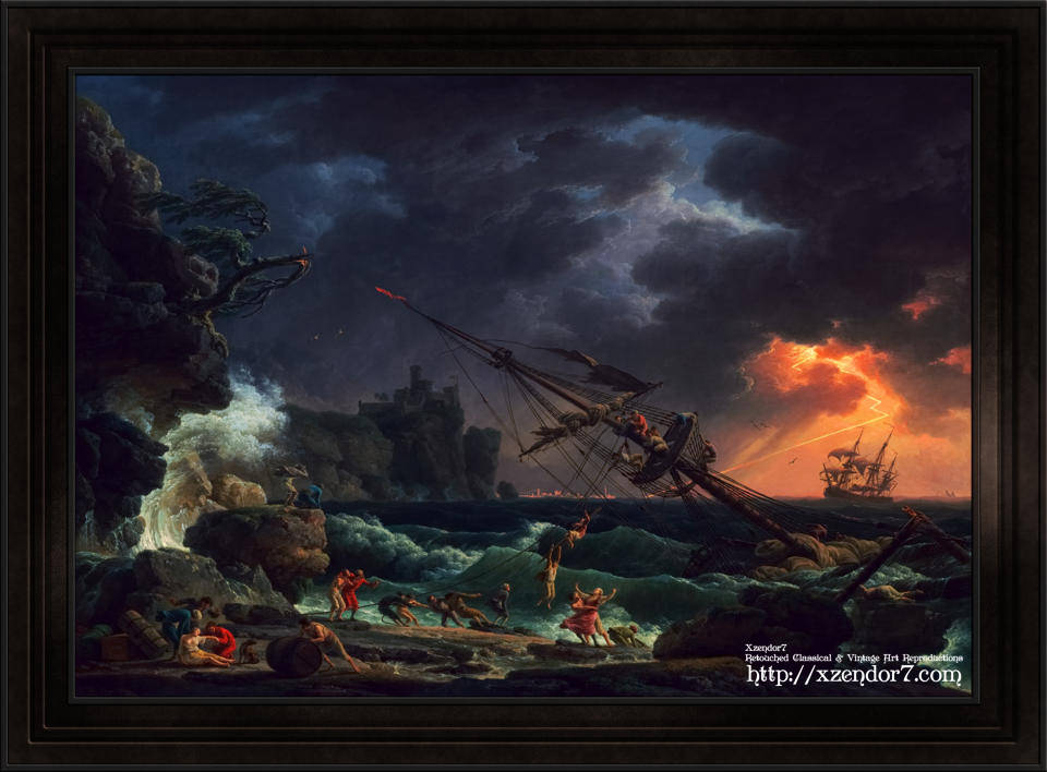 The Shipwreck by Claude Joseph Vernet