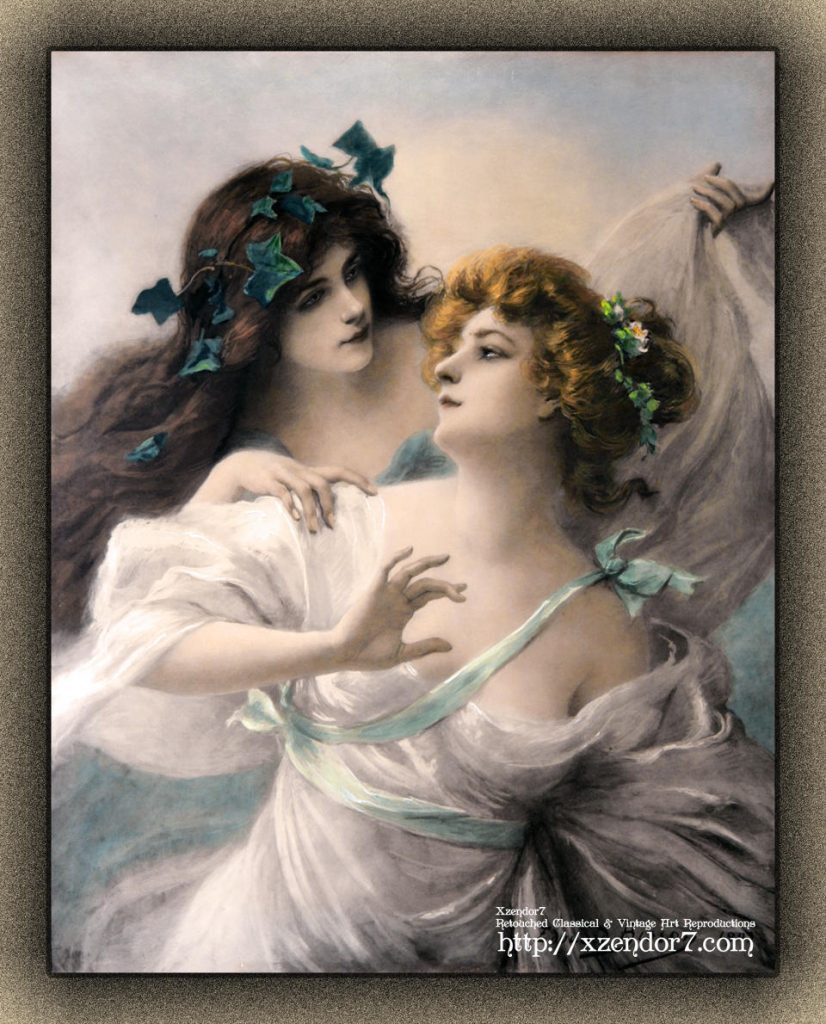Two Virgins by Edouard Bisson