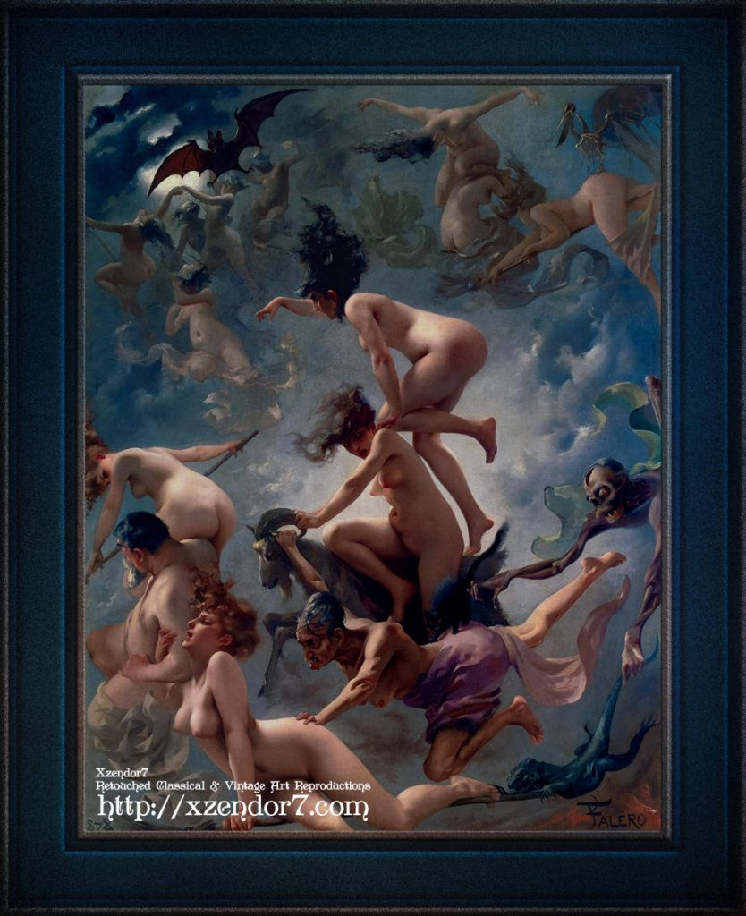 Witches Going To Their Sabbath by Luis Ricardo Falero