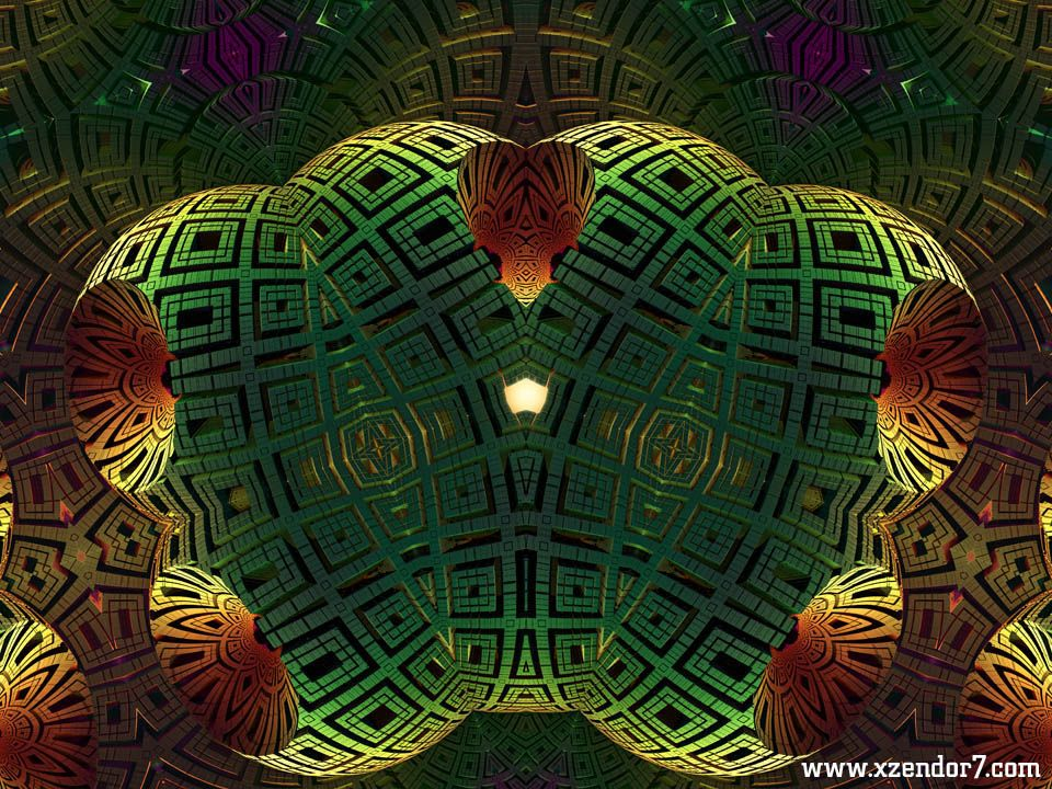 Alien Artifact AAKM1m90 Fractal Art Composition