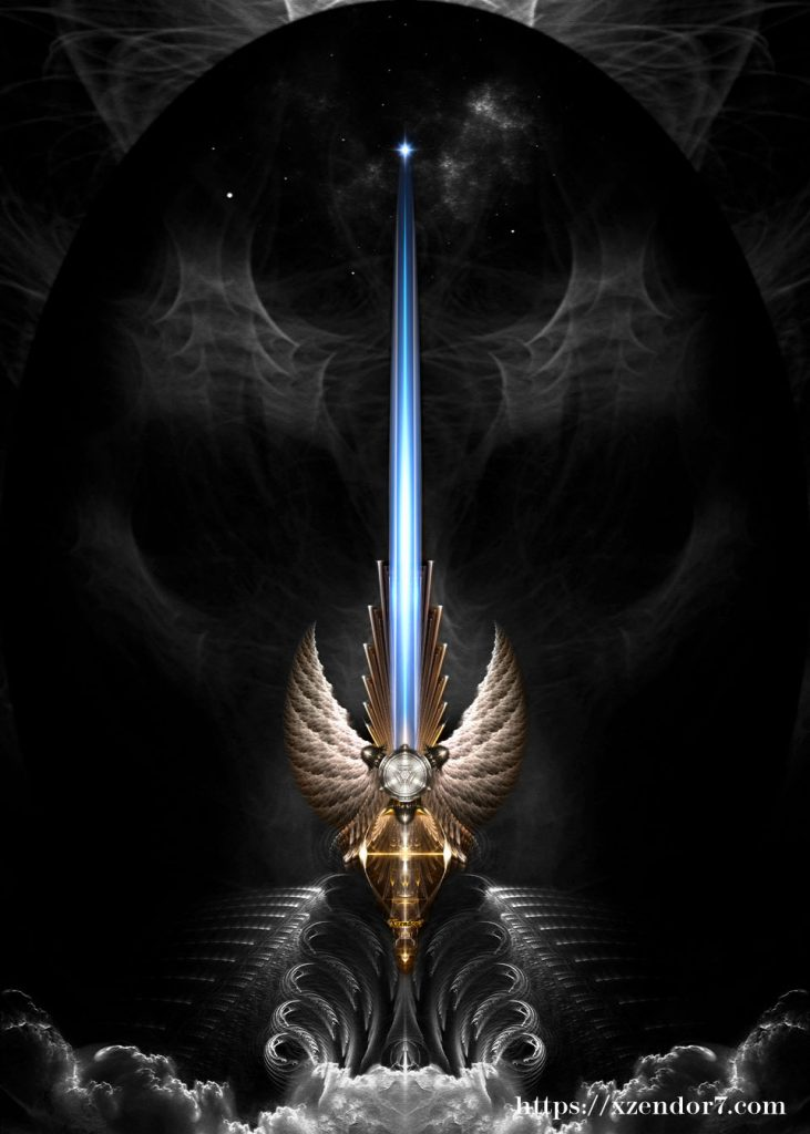 Angel Wing Sword Of Arkledious DGS Fractal Art Composition