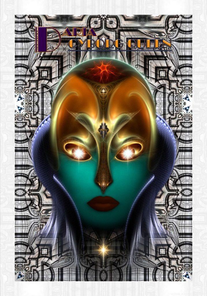 Daria Cyborg Queen Tech Fractal Art Composition