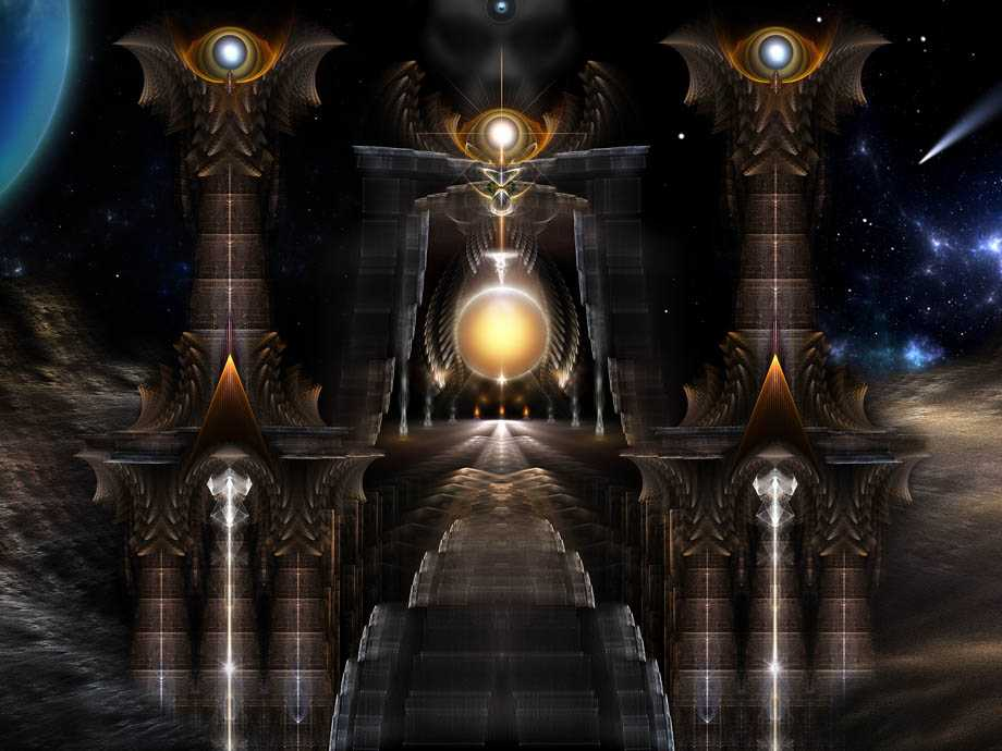 Orb Of Acrellis Fractal Art Composition