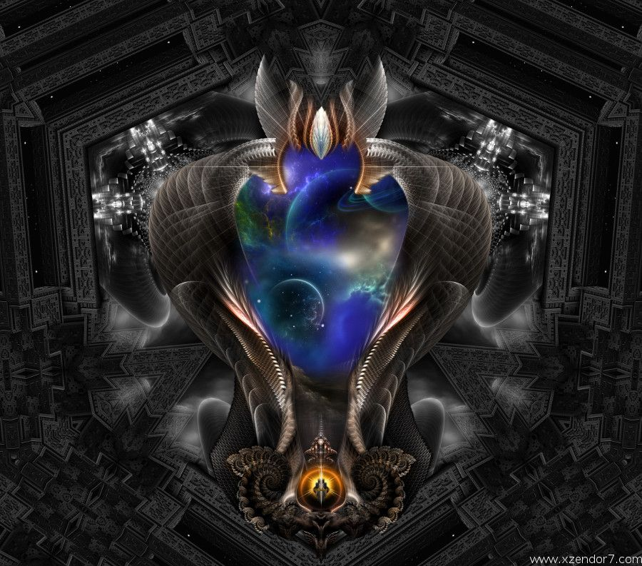 Seeing Past Oblivion and Seeing Past Oblivion Arsencia Fractal Art Composition