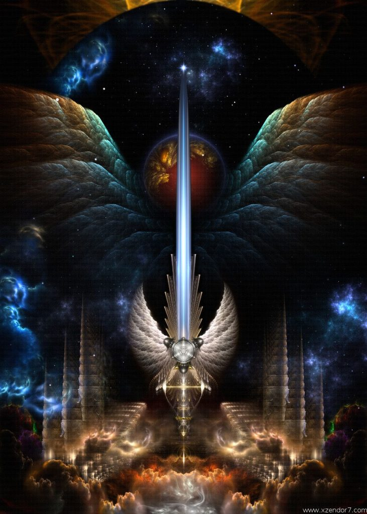 Angel Wing Sword Of Arkledious Imperial Wings Fractal Art Composition