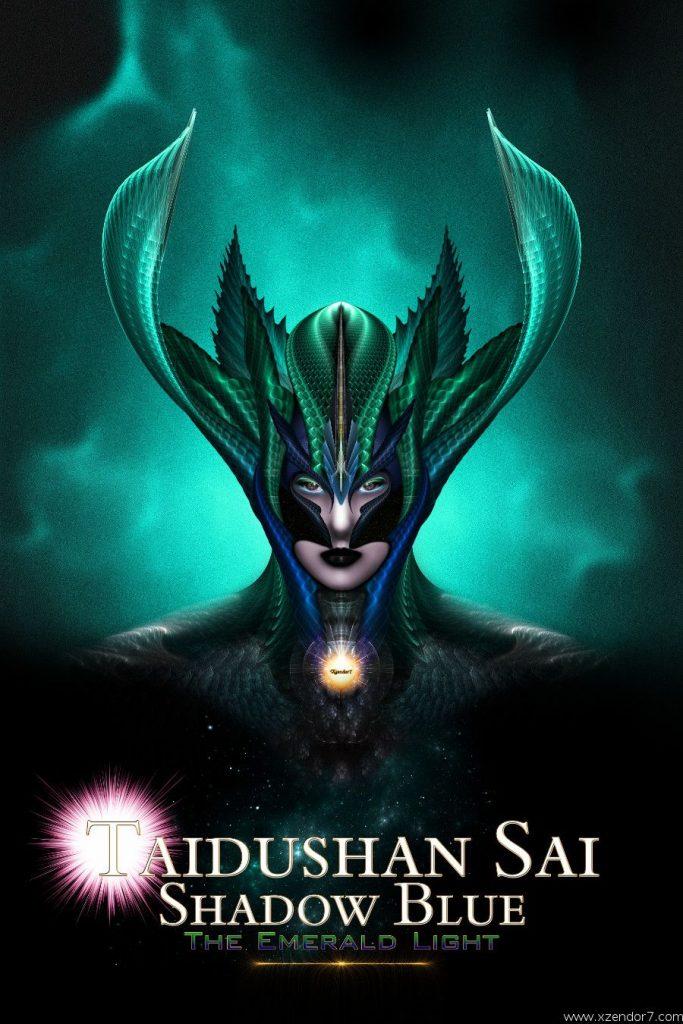 Taidushan Sai Shadow Blue The Emerald Light Fractal Art Composition
