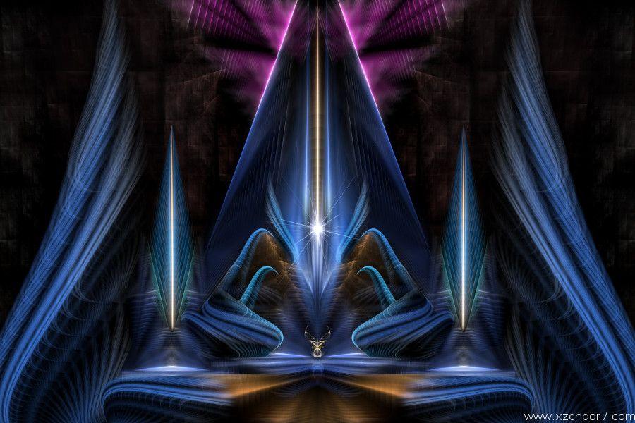 The Citadel Of Light Fractal Art Composition