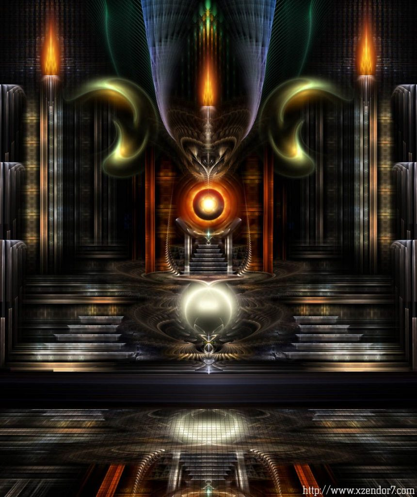 The Throne Room - The Throne Room Of Arpelicus Fractal Art Composition