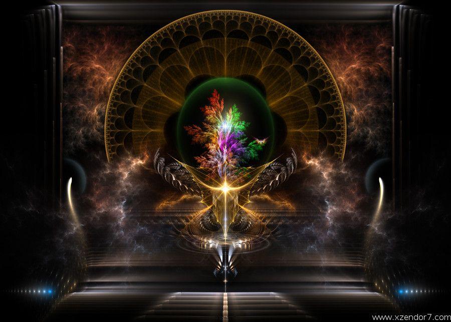 The Treasure Fractal Art Composition