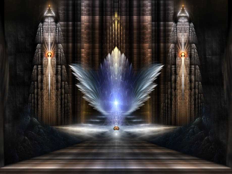 The Wings Of Heaven Fractal Art Composition