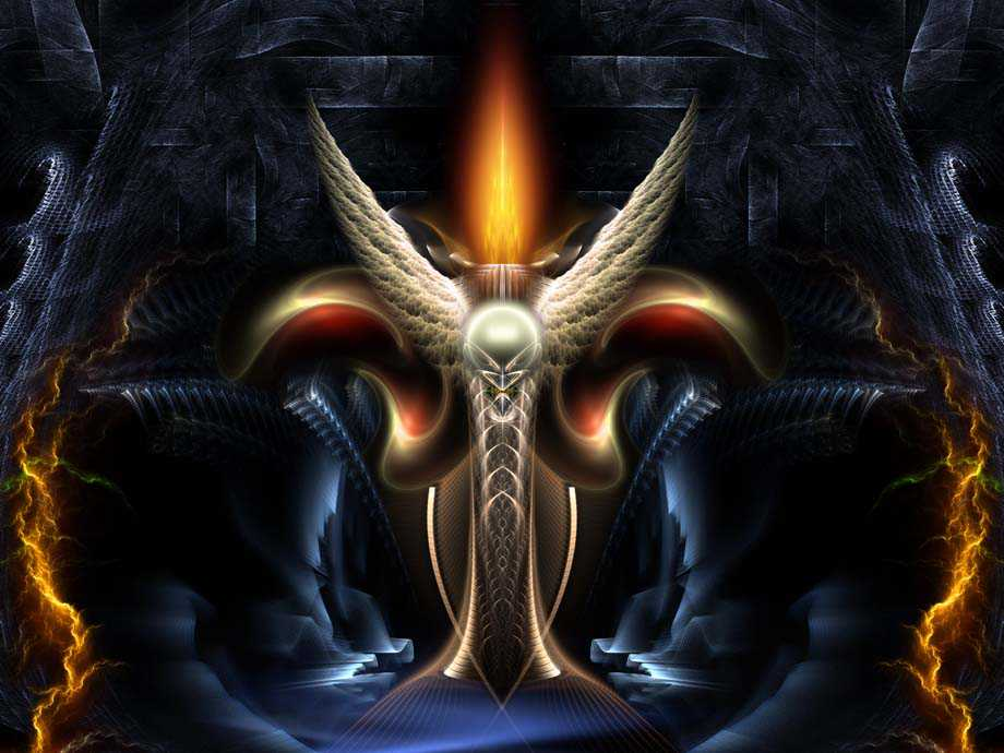 Winged Torch Of Arclairess Fractal Art