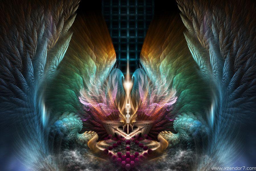 Wings Of Artillian Fractal Art Composition